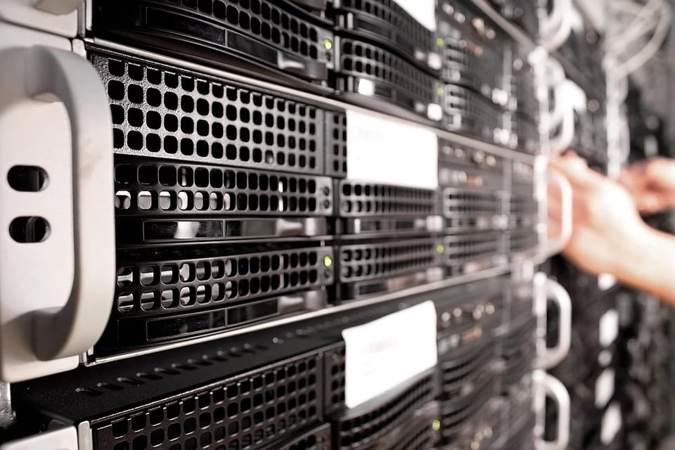 Example of a web hosting datacentre