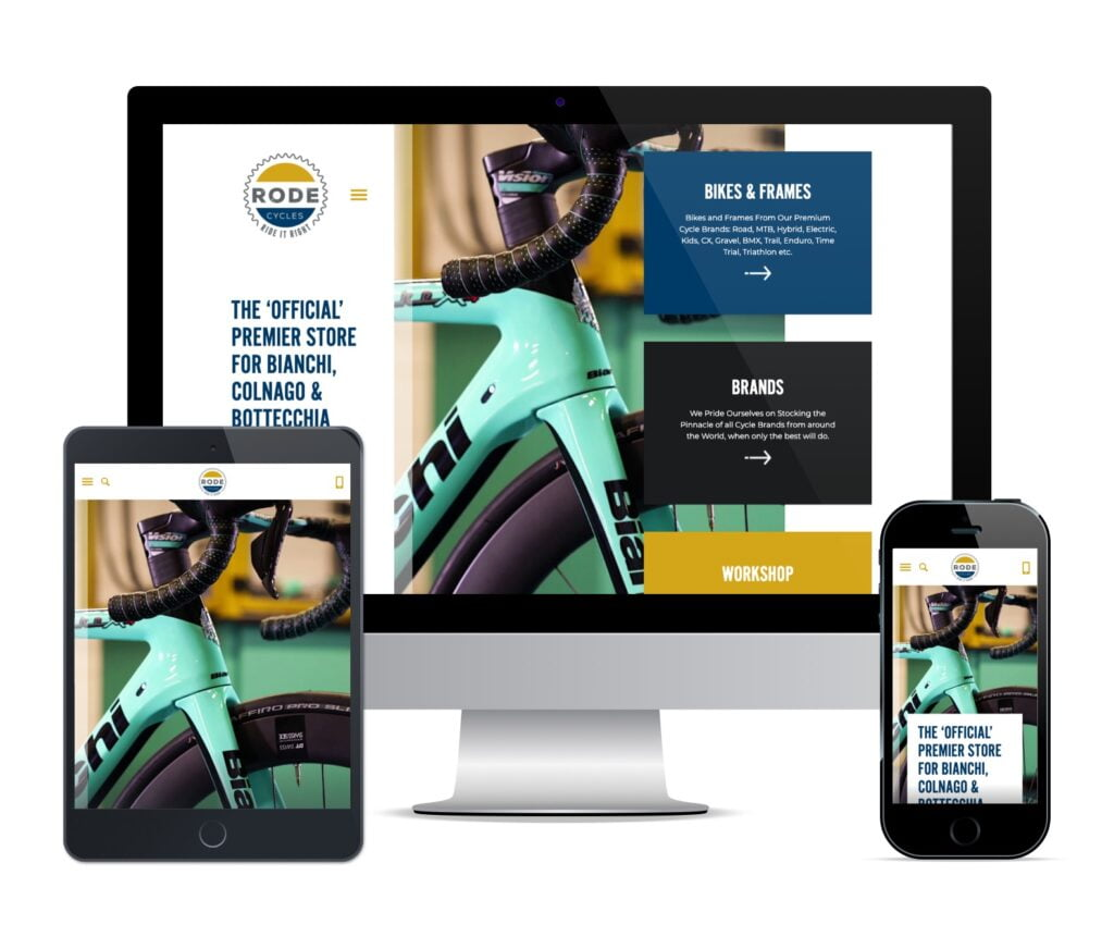 woocommerce web design rode cycles southwell